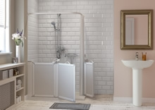 Aire walk-in shower is Companion's most versatile