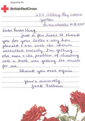 Letter from Mr Fallows